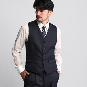 <集英社> TAKEO KIKUCHI タケオキクチ ヘリンボンシングルベスト【Product Notes Japan】 ネイビー 02(M) 01(S) 03(L) メンズ画像