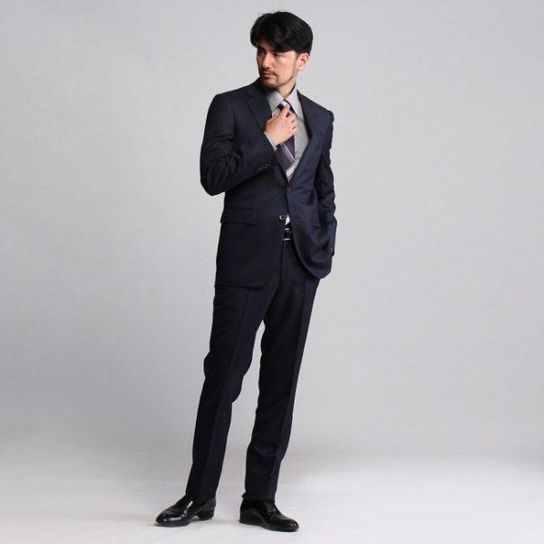 """""""TAKEO KIKUCHI タケオキクチ 絣縞スーツ ネイビー 02(M) メンズ"""""""