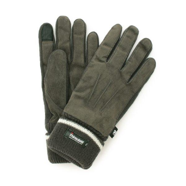 【コンビニ後払いOK】BASECONTROL ベースステーション 【スマホ対応】ピッグスエード グローブ(手袋) チャコールグレー ネイビー 99 メンズ