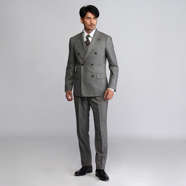 【コンビニ後払いOK】TAKEO KIKUCHI タケオキクチ ヘリンボンミルド3Pスーツ【Product Notes Japan】 ダークブラウン 02(M) 03(L) 04(LL) メンズ
