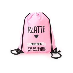 <集英社> PINK-latte ピンクラテ ロゴ・ナップサック ベビーピンク ネイビー キッズ画像