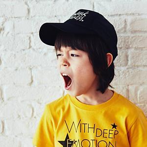 <集英社> 3can4on サンカンシオン BOYSメッシュキャップ ブラック ライトブルー ネイビー キッズ画像
