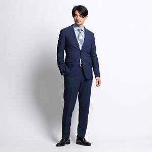 <集英社> TAKEO KIKUCHI タケオキクチ マイクロチェックピアチェンツアスーツ[メンズ スーツ チェック] ネイビー 03(L) 02(M)画像