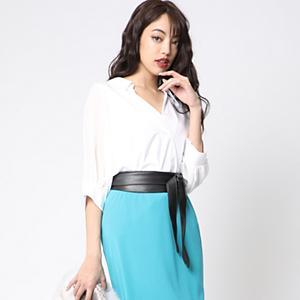 <集英社> アウトレット VICKY ビッキー 袖シフォン抜け衿カットシャツ ホワイト M(2) レディース