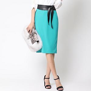<集英社> アウトレット VICKY ビッキー サッシュベルト付きタイトスカート グリーン S(1) M(2) レディース