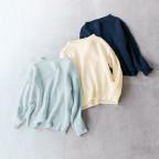 大人の畦編みニット