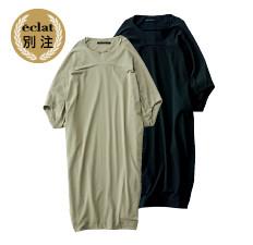 eclat別注 【池田奈加子×divka】ドレープワンピース