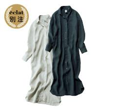 eclat別注 【池田奈加子×Finamore】 リネン100%ワンピース