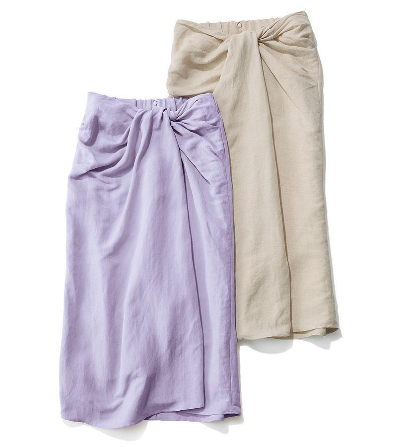 旬のきれい色をボトムで投入 GALLARDAGALANTE×éclat ツイストタイトスカート