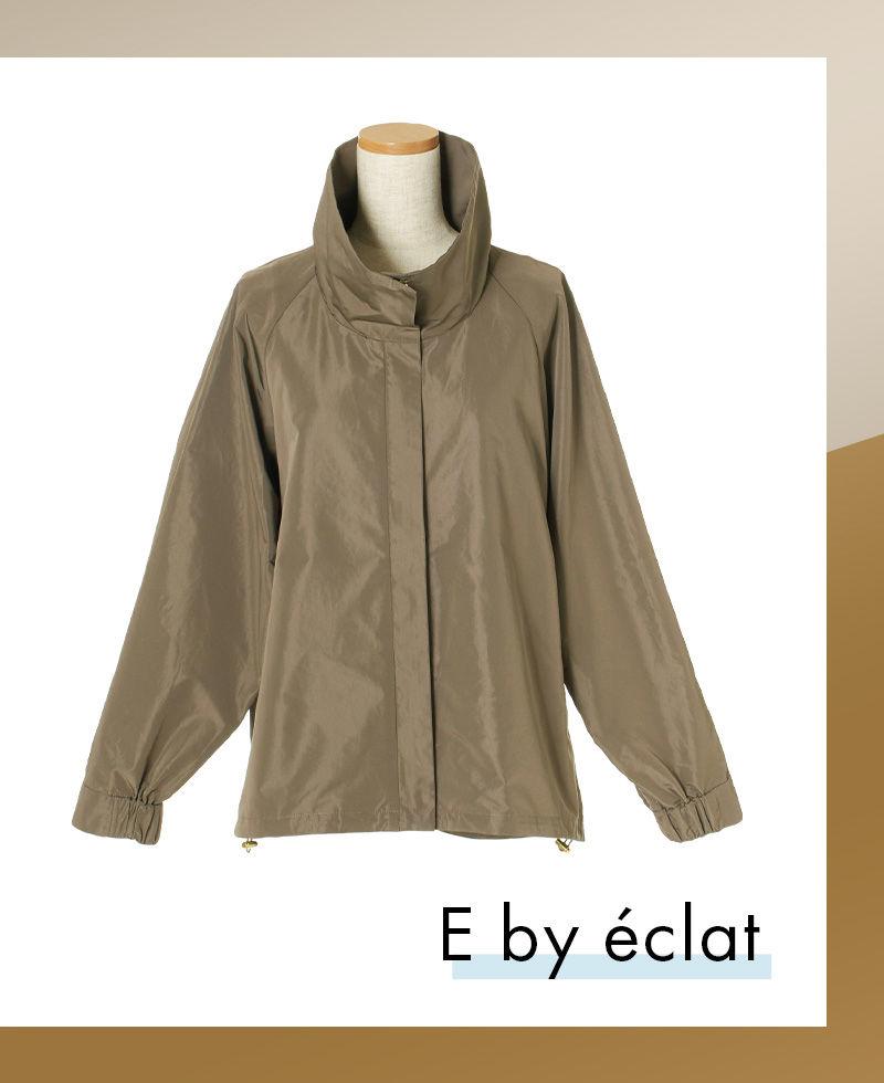 E by éclat スタンドジップブルゾン