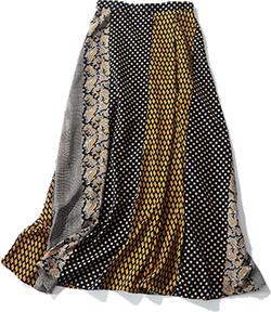 UNITED ARROWS UWSC ペイズリープリント スカート