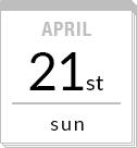 APRIL 21st sun