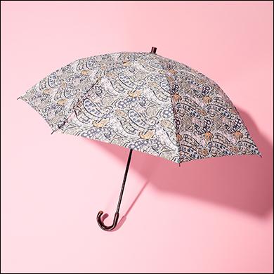 Cou Pole 【LIBERTY】リバティプリント晴雨兼折畳み傘(サクラハンドル)