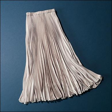 エレガントプリーツスカート