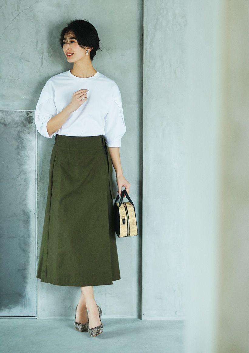【玄長なおこさんコラボ】着やせ ラップスカート