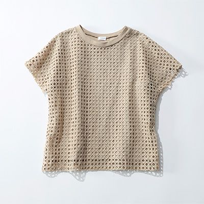 REKISAMI/メッシュ柄Tシャツ/¥19,000