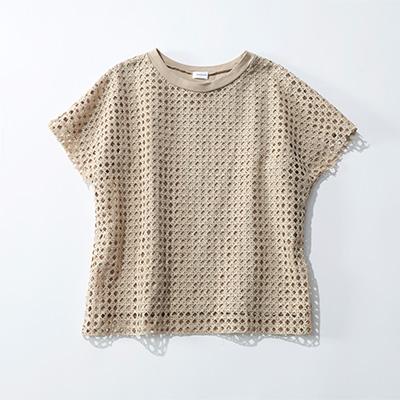 REKISAMI/メッシュ柄Tシャツ/¥19,000+税