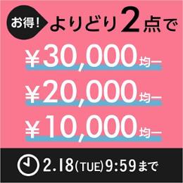 お得!まとめ買いキャンペーン よりどり2点で¥20,000均一 ¥10,000均一