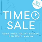 【TIME SALE】期間限定タイムセール開催中! 8/17(月)13:59まで。『Demi-Luxe BEAMS』『PELLICO SUNNY』ほか人気ブランド多数参加!お見逃しなく!
