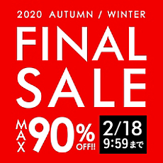 MAX90%OFF!FINAL SALE!