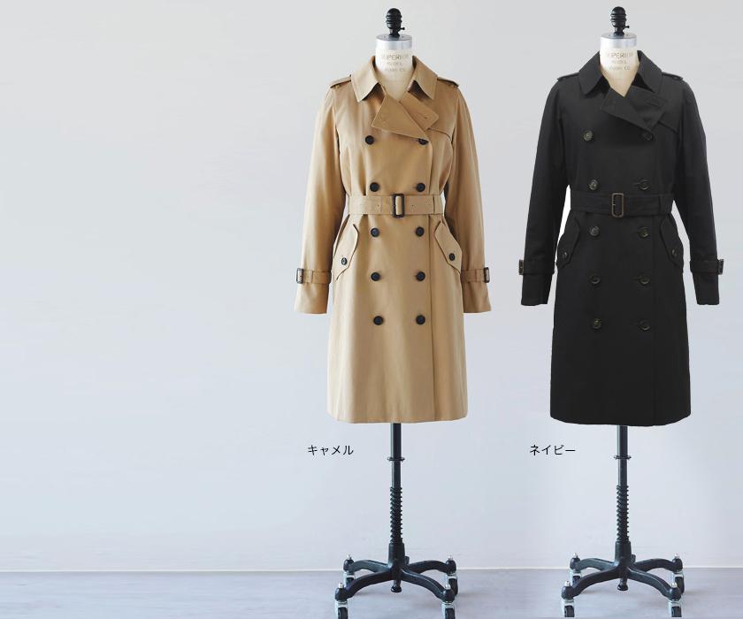 【福田麻琴さん+SANYO】スプリットラグラントレンチコート (スタンダード丈)