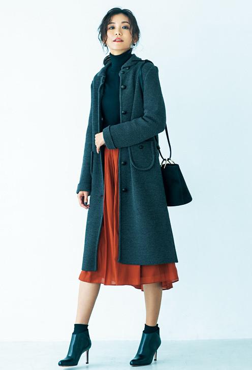 マンナ ウール鹿の子編みコート