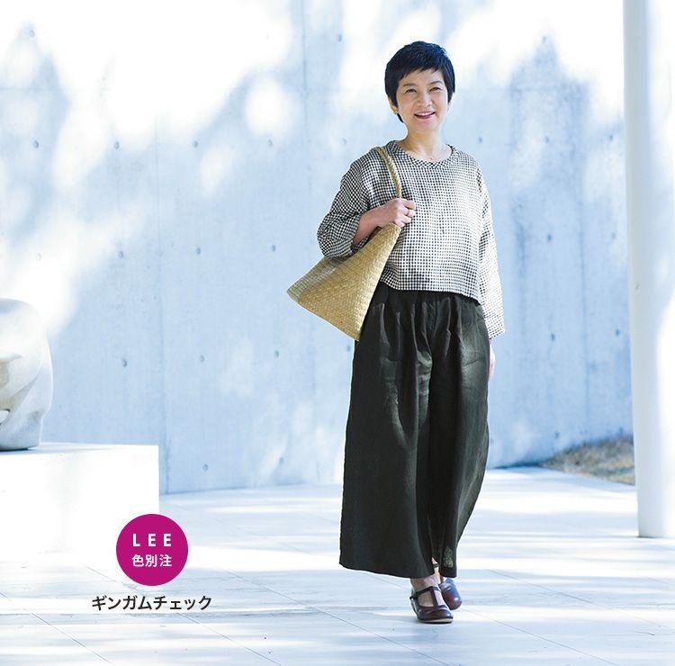 リネントップス(LEE 色別注 ギンガムチェック)