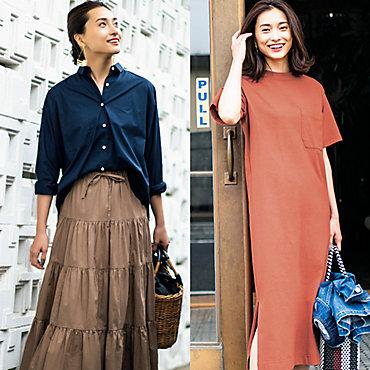 12closetのTワンピ&ゆれスカート