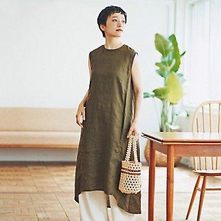 さらっと一枚でサマになるfogのリネンの服で真夏を満喫