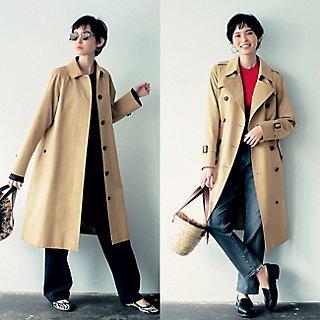「SANYOCOAT × LEEマルシェ」ずっと愛せる トレンチコート&ステンカラーコート!