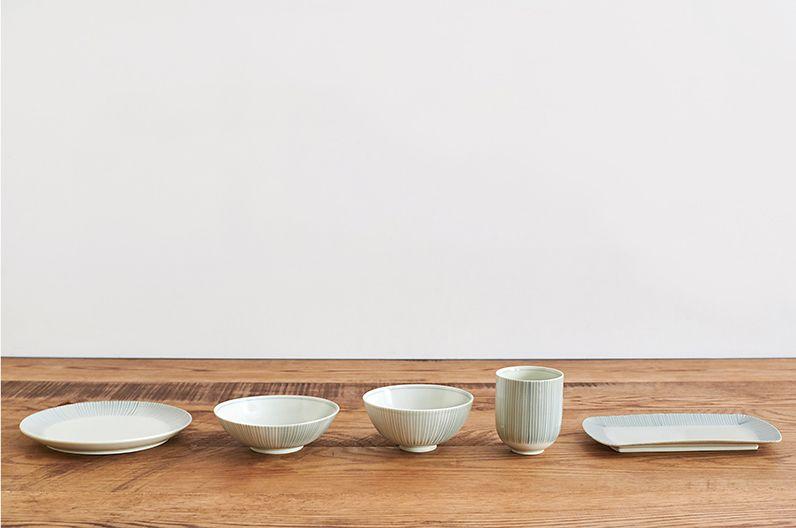 【長く愛用したい陶磁器】十草 とくさ 波佐見焼 | 湯呑 飯椀 浅鉢 中皿 長皿 セットでそろえるのがオススメ