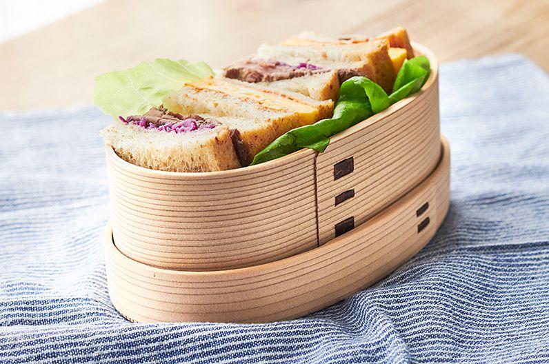 【インテリア雑貨特集】 りょうび庵 曲げわっぱ 小判弁当 | サンドイッチを入れてもかわいい小判型
