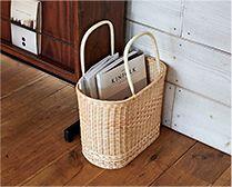 【インテリア雑貨特集】 松野屋 籐小判買物かご | 雑誌や書類もストンと収まる自立型、インテリアにも最適