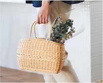 【インテリア雑貨特集】 松野屋 籐山型買物かご | かごバッグとして普段使いするのもおすすめの手編みかご