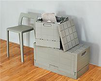 【インテリア雑貨特集】ワードローブや収納のグレーインテリア   I'mDのグリッドコンテナーは垂直にぴったりと積み上げられる無駄のないミニマルなデザイン