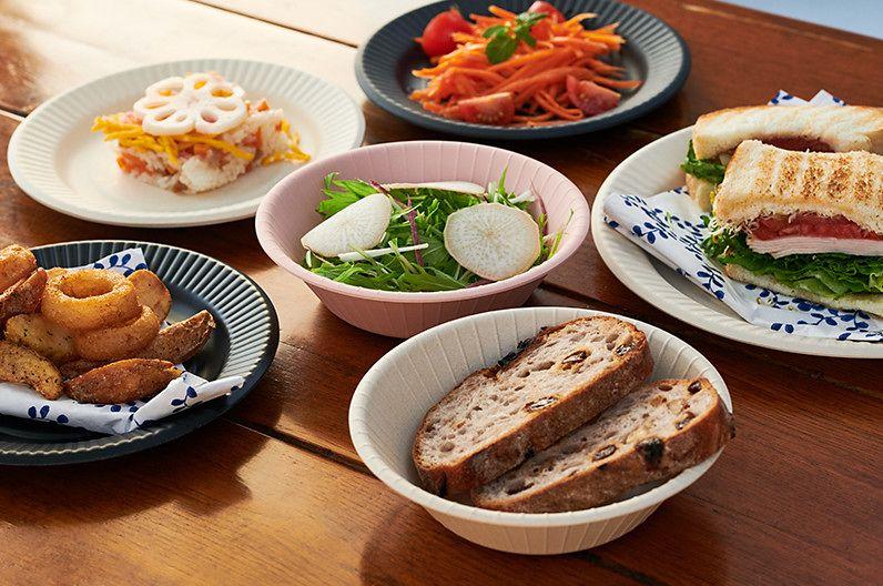 【インテリア雑貨特集】ideaco イデアコ b fiber plate19 | 紙皿を模したデザインがおしゃれなバンブーメラミン製の軽量食器