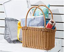 【インテリア雑貨特集】ザリーン ショッピングバスケット | ピクニックに必要なアイテムが収納できる お買い物にも使えるバスケット
