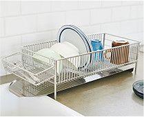 【インテリア雑貨特集】a base 水切りかごスリム(横置きタイプ) | 毎日使うものだから、水切りかごは実用度を重視