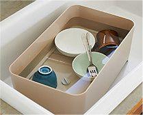 【インテリア雑貨特集】YOHAKU シンクオンコンパクトバスケット | スリム&コンパクトなアイテムで、キッチンまわりをスッキリと