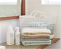 【インテリア雑貨特集】like-it タウンバスケット| 洗面台周りをシンプルに飾る洗濯グッズ