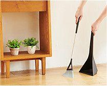 【インテリア雑貨特集】tidy スウィープ・コンパクト | 狭い玄関にも置きやすい細身でコンパクトなほうき&ちり取りセット