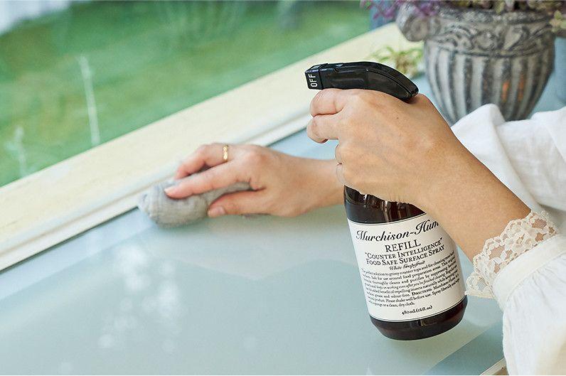 【インテリア雑貨特集】Murchison Hume キッチン用クリーナー(カウンターインテリジェンス)   厳選された植物由来原料で開発された、カウンタートップやテーブル、キッチン周りにお使いいただける、まったく新しいタイプのクリーナー
