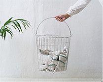 【インテリア雑貨特集】大木製作所 ランドリーバスケット    ずっと清潔に使える ステンレス製ランドリーバスケット