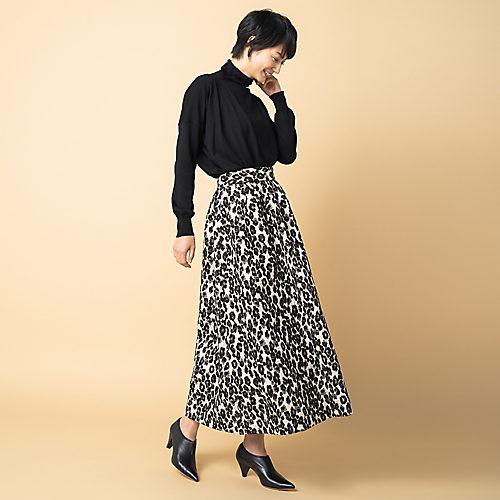 THE IRONレオパードジャカードスカート