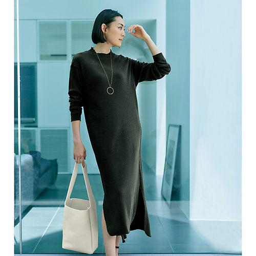 unfil(アンフィル) シルクジャージーTシャツドレス