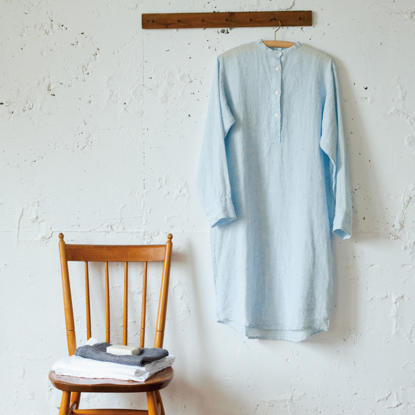 Linomeda (リノメダ) リネンロングナイトシャツ