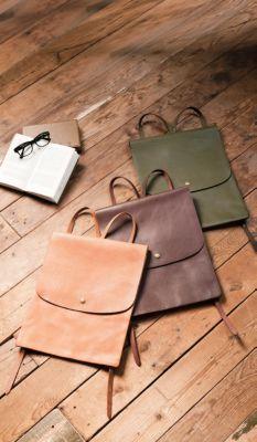 <集英社> Leather Backpack レザーバックパック画像