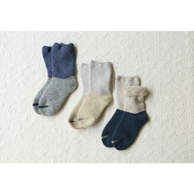 <集英社> お風呂上りのやさしい靴下<ウール&コットンパイル>画像