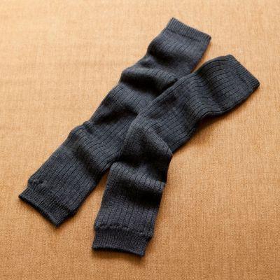 <集英社> ウールとシルクの二重編みレッグウォーマー画像
