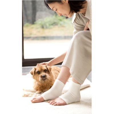 <集英社> シルク かかと美容サポーター(保湿シート付)画像